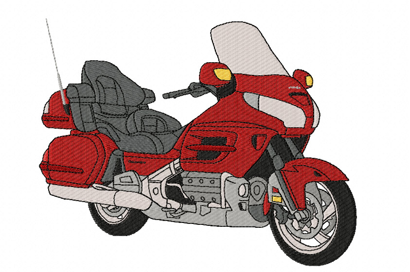 Honda GL1800 Goldwing Jacket Back Embroidery Design - Click Image to Close
